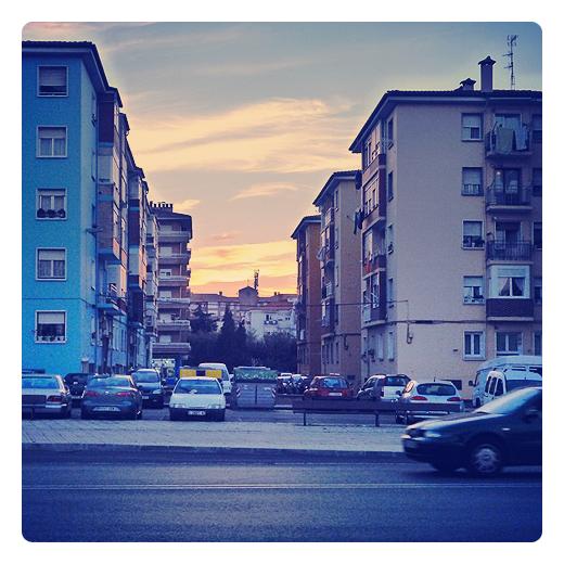 Torrelavega - atardecer en la ciudad