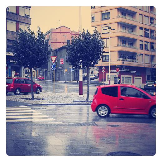 Torrelavega - coches rojos