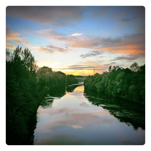 Torrelavega - puesta de sol
