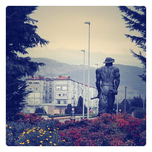 Torrelavega - el minero, escultura