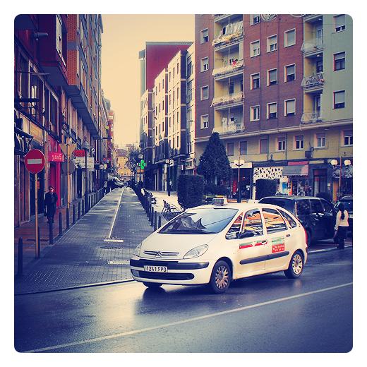 Torrelavega - taxi ocupado