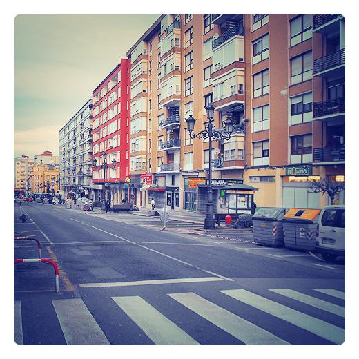Torrelavega - calle vacia