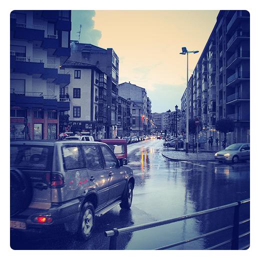Torrelavega - frente lluvioso