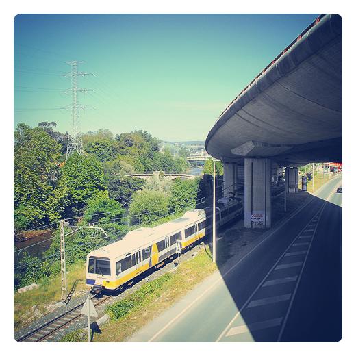 entrada ciudad, carretera nacional N-634, autovía del Cantábrico A-8, red ferroviaria, tren de cercanias, Avenida Oviedo en Torrelavega