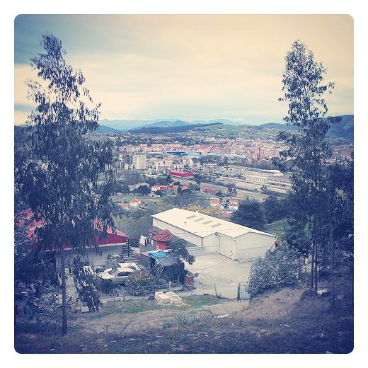 horizonte de montañas, horizonte de ciudad, panorama urbano, punto de vista, perspectiva, eucaliptos, paisaje de arboles, Ganzo, panoramica de Torrelavega