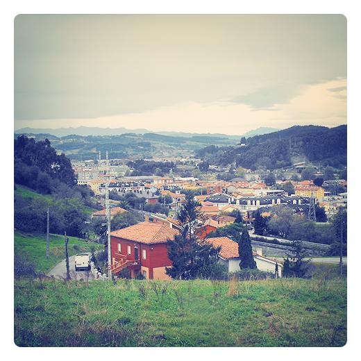 Valle del Besaya, comarca del Besaya en Cantabria llanura entre montañas, geografia fisica, division del territorio, paisaje geografico, unidad territorial, horizonte de montañas, panoramica de Torrelavega