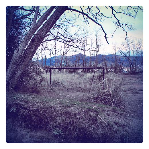 campo abandonado, porteria de fútbol, abandono, desuso, dias olvidados, paisaje de arboles, arboles sin hojas, Los Depositos, La Viesca, fotografia de Torrelavega