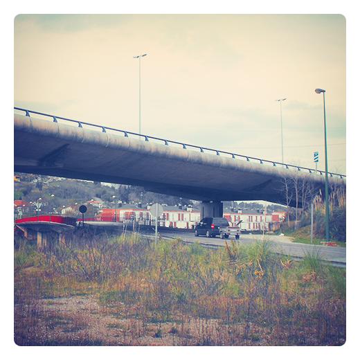 puente de autopista, autovia, carretera, Autovia del Cantabrico E-70, infraestructuras de transporte, trafico, puente de hormigon, fotografia de Torrelavega
