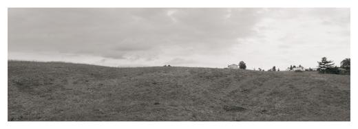 paisaje en miniatura, pequeño, diminuto, paisaje de arboles y casas, horizonte, periferia, extrarradio, fotografia de Torrelavega