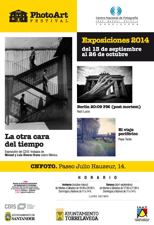 Photoart Festival Torrelavega, cartel, exposicion fotografica, CNFOTO de Torrelavega, el viaje periferico