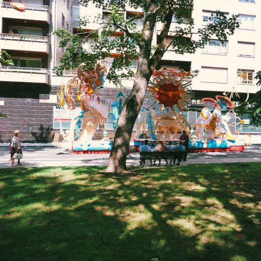 gala floral, desfile de carrozas, fiestas de Torrelavega, parque Manuel Barquin, fotografia de Torrelavega
