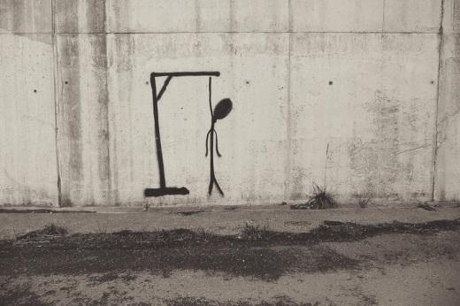 pintada, graffiti, dibujo esquematico, monigote, paso inferior, Viernoles, fotografia de Torrelavega